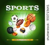 sports background  illustration ... | Shutterstock .eps vector #553715641