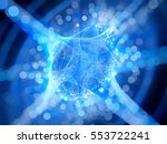 blue glowing connection network ... | Shutterstock . vector #553722241