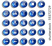 set of blue glossy buttons for...   Shutterstock .eps vector #55372729
