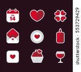saint valentine's day flat... | Shutterstock .eps vector #553729429