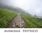 tourist path in poland with... | Shutterstock . vector #553733215