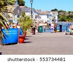 fowey  cornwall  uk. june 26 ... | Shutterstock . vector #553734481