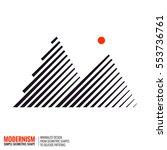minimalistic geometric design... | Shutterstock .eps vector #553736761