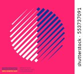 minimalistic geometric design... | Shutterstock .eps vector #553737091