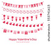 valentine's day vector greeting ... | Shutterstock .eps vector #553741615