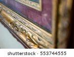 old gilded frame. antique frame ... | Shutterstock . vector #553744555