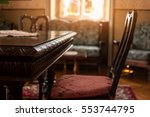 antique table and chair.... | Shutterstock . vector #553744795