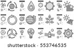 ecology vector line icon set... | Shutterstock .eps vector #553746535