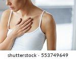 heart health care. closeup of...   Shutterstock . vector #553749649