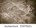 Ground texture with sink - stock photo