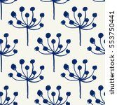 vector seamless pattern.... | Shutterstock .eps vector #553750441