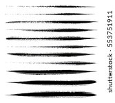 vector set of grunge brush... | Shutterstock .eps vector #553751911