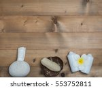 spa set  candle coconut flower... | Shutterstock . vector #553752811