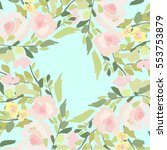 flowers pattern | Shutterstock .eps vector #553753879
