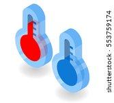icon thermometer isometric