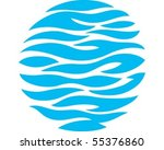 O for ocean - stock vector