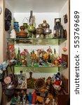 Small photo of Kolomna, Russia - January 03, 2017: Assortment of flea market items, located in heart of tourist route, near to Kolomna Kremlin by Andrey Kopylov, aka linkpusher
