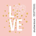 happy valentines day love... | Shutterstock .eps vector #553770331