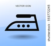 steam iron icon vector... | Shutterstock .eps vector #553772245