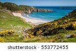 sango bay durness beach.... | Shutterstock . vector #553772455