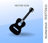 guitar icon vector illustration
