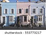 typical painted facades of... | Shutterstock . vector #553773217