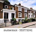 a terrace of typical small 19th ... | Shutterstock . vector #553773241
