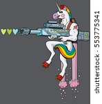 unicorn soldier character...