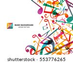 colorful music notes. vector... | Shutterstock .eps vector #553776265