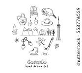 canada hand drawn icon vector... | Shutterstock .eps vector #553776529