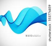 abstract blue wave modern...   Shutterstock .eps vector #553776859