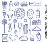 collection of hand drawn... | Shutterstock .eps vector #553782019