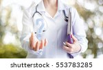 doctor's answers. | Shutterstock . vector #553783285