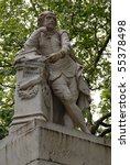 statue of william shakespeare... | Shutterstock . vector #55378498