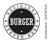 burger vintage stamp logo | Shutterstock .eps vector #553787419