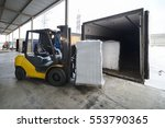 Forklift In Warehouse Loading...