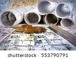 architectural project  | Shutterstock . vector #553790791
