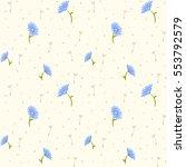 vector retro cute seamless... | Shutterstock .eps vector #553792579