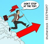 pop art successful businessman... | Shutterstock .eps vector #553794097