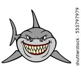 shark smile | Shutterstock .eps vector #553797979