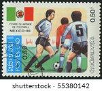 laos   circa 1985  stamp... | Shutterstock . vector #55380142