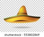 mexican sombrero hat... | Shutterstock .eps vector #553802869