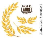 laurel wreath. golden detailed... | Shutterstock .eps vector #553804615