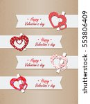 valentine s day banners set ... | Shutterstock .eps vector #553806409