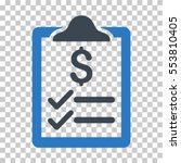 invoice pad icon. vector... | Shutterstock .eps vector #553810405