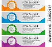bio laboratory banner templates ... | Shutterstock .eps vector #553820689