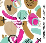 you   me. print design | Shutterstock .eps vector #553824031