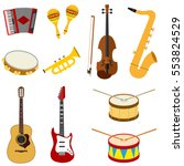 musical instruments  accordion  ...   Shutterstock .eps vector #553824529