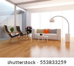 white room with a sofa. living... | Shutterstock . vector #553833259