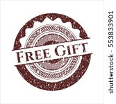 red free gift rubber grunge seal